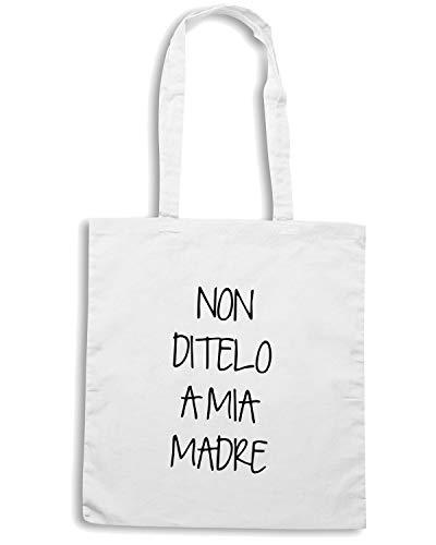 Speed Shirt Borsa Shopper Bianca TDM00192 NON DITELO A MIA MADRE