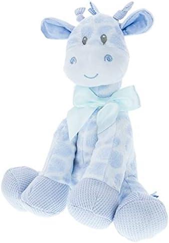 "Kelli's Gifts 18"" Blue Giraffe Rattle for Boy/Baby /Plush Rattle Newborn Gift"