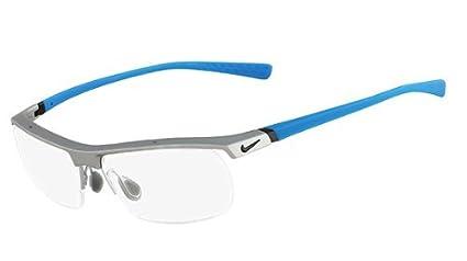 5c4336615d Image Unavailable. Image not available for. Color  Nike Eyeglasses 7071 2  080 Matte Platinum Slate Blue ...