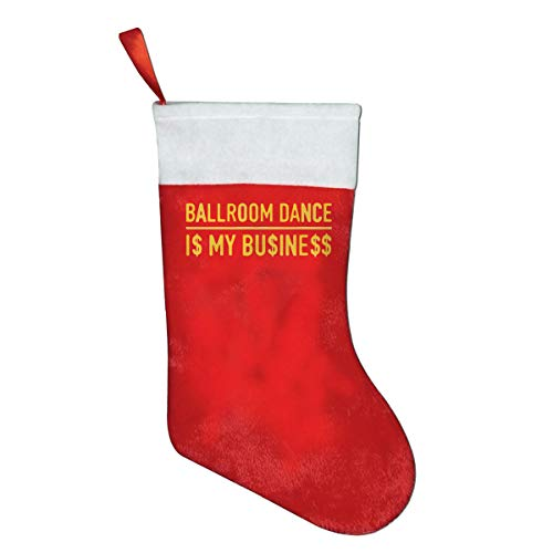 YISHOW Ballroom Dance is My Business Felt Christmas Stocking Party Accessory by YISHOW