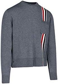 Thom Browne Luxury Fashion Uomo MKA305A00014035 Grigio Lana Maglione | Autunno-Inverno 20