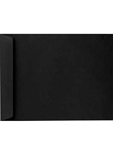 6 x 9 Open End Envelopes - Midnight Black (50 Qty.) LUXPaper
