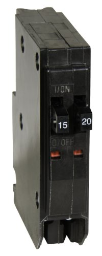 Square D by Schneider Electric QOT1520 QO 1-15-Amp 1-20-Amp Single-Pole Tandem Circuit Breaker