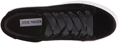 Steve Madden Kvinders Bertie Mode Sneaker Sort Fløjl otdaSCN