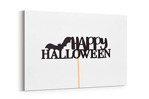 Halloween Bat Craft and Stick - Canvas Wall Art Gallery Wrapped 12