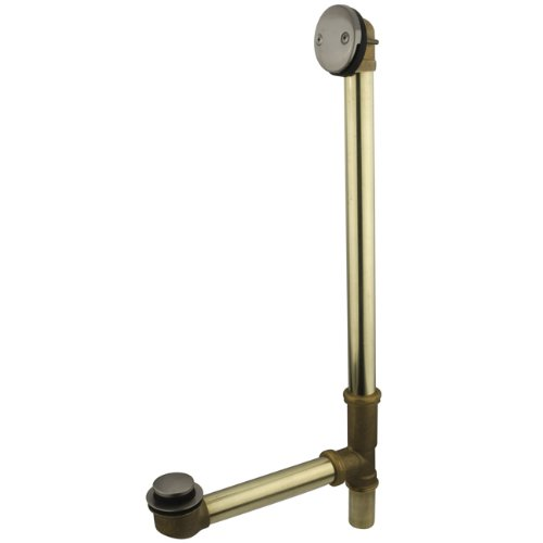 - Kingston Brass DTT2208 Tip-Toe Bath Tub Drain and Overflow, Brushed Nickel