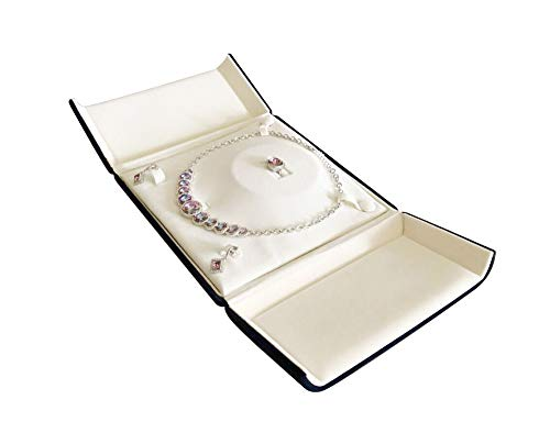 Svea Display Blue Velvet Jewelry Box Serie Ring Pendant Braceet (Jewelry Set) ()