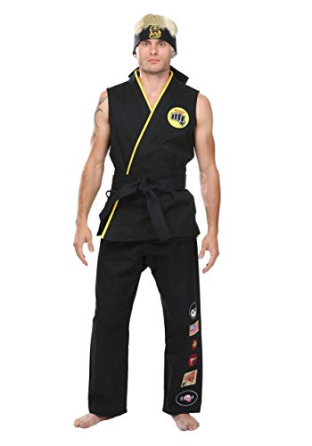 Karate Kid Johnny Lawrence Costume Elite Cobra Kai Costume - M Black -