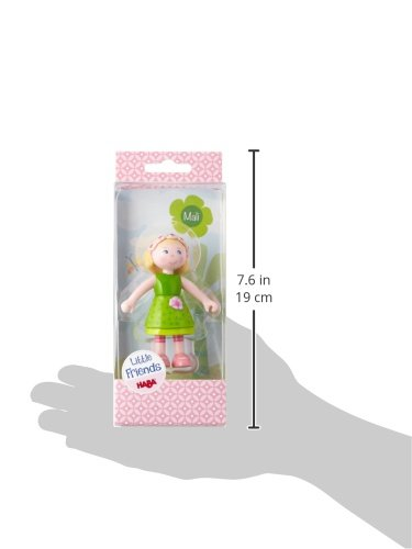 "HABA Little Friends Mali 4/"" Bendy Girl Doll Figure with Blonde Hair /& 300513"
