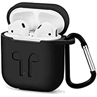 Protective Silicone full AirPods Case with Carabiner for Apple Airpods Accessories