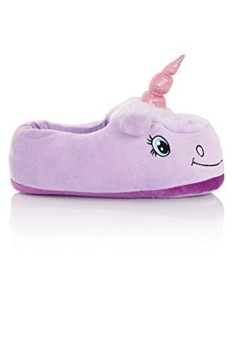 Kenmont Einhorn Plüsch Pantoffeln Unicorn Hausschuhe Spielzeug Tier Pantoffel Schuhe für Erwachsene|Weihnachtsgeschenk|Geschenke Lila