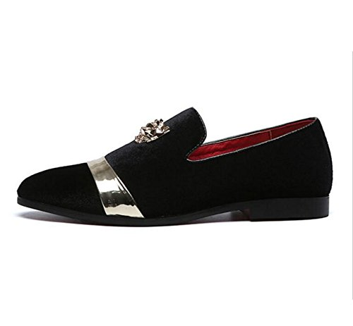 Shoes Suede Shoes XIUWU Night Club Black Oxford Patchwork Men's xRwqvIAP