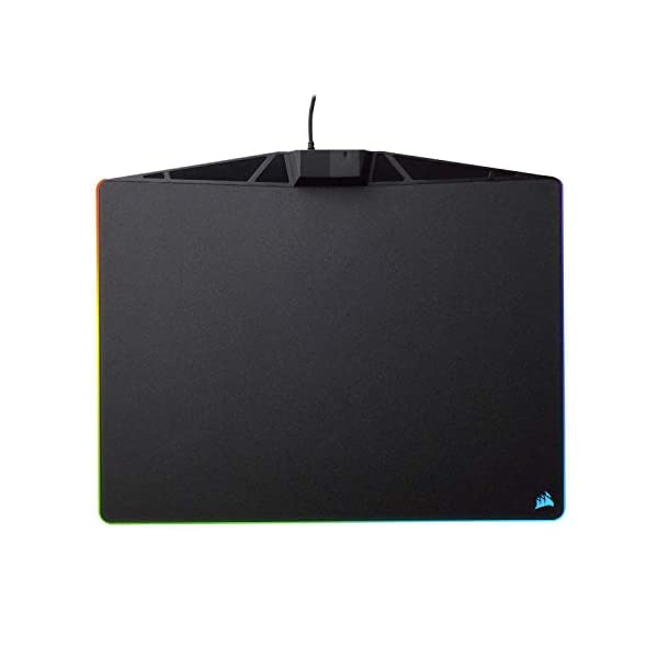 Corsair MM800 Polaris RGB Mouse Pad - 15 RGB LED Zones - USB Pass Through - High-Performance Mouse Pad Optimized for…
