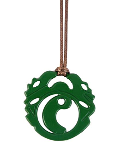 Lara Necklace Green Pendant Fancy Croft Halloween Accessory Cosplay Prop]()