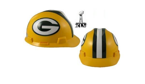 ccfdce2d86d NFL Green Bay Packers Hard Hats RATCHET SUSPENSION  Amazon.ca  Industrial    Scientific