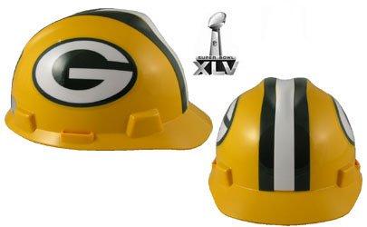 NFL Green Bay Packers Hard Hats RATCHET SUSPENSION MSA