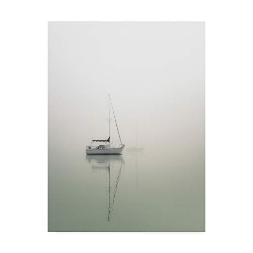 Trademark Fine Art Sailboats on Calm Lake by Nicholas Bell Photography, 18x24-Inch