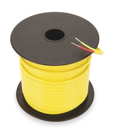 Thermocouple Ext Wire, KX, 20AWG, Sol, 250Ft -  TEMPCO, TCWR-1008