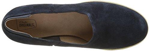Clarks Originals Athie Luna, Zapatos de Cuñas Mujer Azul (Midnight Suede)
