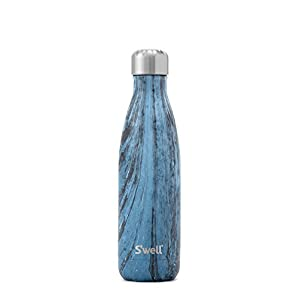 S'well Vacuum Insulated Stainless Steel Water Bottle, Double Wall, 17 oz, Dark Forest