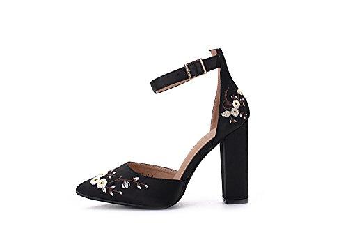 08 Lady D'Orsay Mila BERYL Lady Heels Platform Classic FL Strap BLACK Ankle Elegance qHaEdd