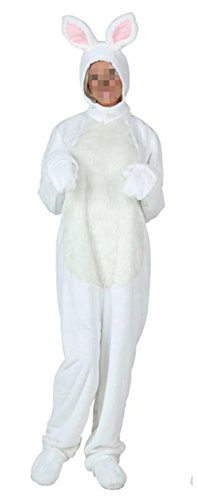 Ameyda Unisex Adult Child Kids White Bunny Halloween Cosplay Costume One Piece - Vampire Bunny Costume