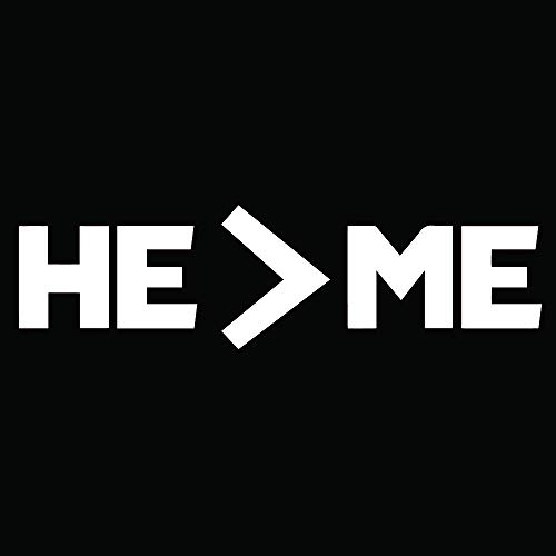 ANGDEST HE is Greater Than ME (White) (Set of 2) Premium Waterproof Vinyl Decal Stickers for Laptop Phone Accessory Helmet Car Window Bumper Mug Tuber Cup Door Wall Decoration]()