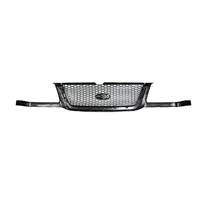Grille Grill Argent Honeycomb Mesh Black Surround Front for 01-03 Ford Ranger: Automotive