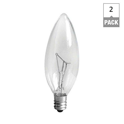 GE Candelabra Base Light Bulb  40 Watts   Pack Of 2 Light Bulb Bases  Amazon com. Base Lighting And Fire Limited. Home Design Ideas