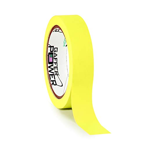 Gaffers Yellow Tape - Labeling Tape - Fluorescent Yellow - Clean Removable Adhesive Tape | Console Tape for Light Control Board, DJ Mixing Board, Audio Mixer, Arts and Crafts, Office Products. 1