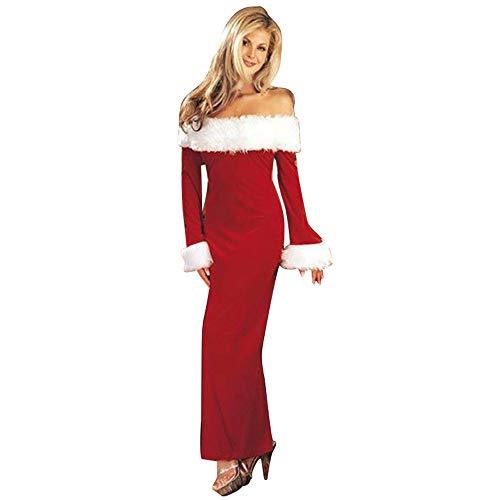 COPPEN Evening Dresses Long Sleeve Scoop Neck Green Christmas Long Dress for Woman Girl ()