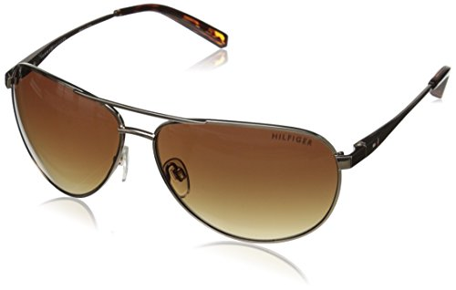 Tommy Hilfiger Women's THS LAD179 Aviator Sunglasses, Gold & Tortoise, 61 - Polarized Sunglasses Hilfiger Tommy