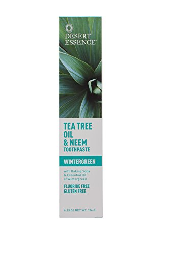 Desert Essence Natural Tea Tree Oil and Neem Toothpaste, 176g (6.25 OZ)