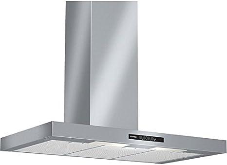 Bosch DWB09W452 - Campana (Canalizado/Recirculación, 450 m³/h, 300 m³/h, Montado en pared, Halógeno, 270 Lux) Acero inoxidable: Amazon.es: Grandes electrodomésticos