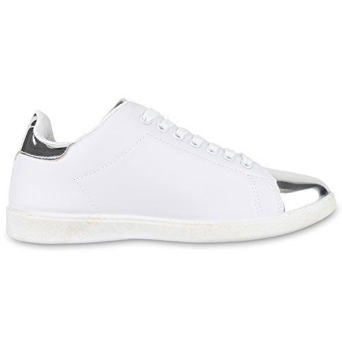 Japado - Zapatillas Mujer Weiss Silber Bianco