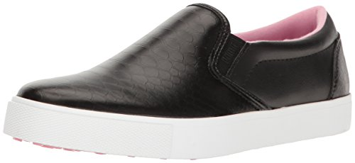 (PUMA Women's Tustin Slip-ON Golf Shoe, Black-Prism Pink, 8.5 Medium US)