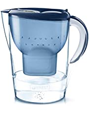 BRITA waterfilter Marella XL blauw incl. 1 MAXTRA+ filtercartridge – groot BRITA-filter ter vermindering van kalk, chloor en smaakstorende stoffen in het water