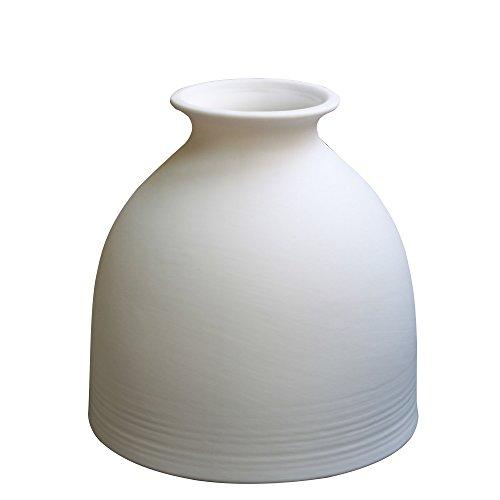 Jomop Small White vase Ceramic, Ceramic Bud vases White, Modern Home Decor, Ceramic vase White Flower vase, Scandinavian Decor, Minimalist vase,Matte Finish