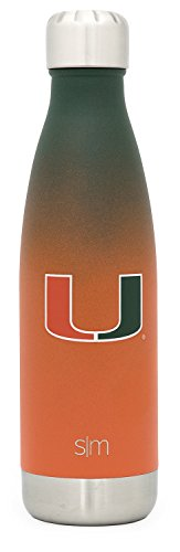 Simple Modern University of Miami 17oz Wave Water Bottle - Vacuum Insulated  Hurricanes 18/8 Stainless Steel Powder Coated Travel Mug