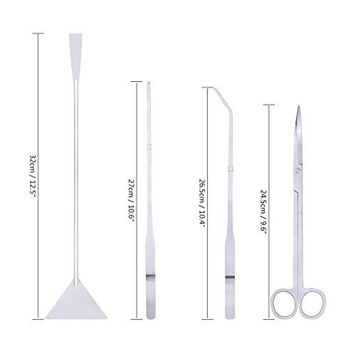 Aquatic-plants-Stainless-Steel-tools-Convenient-Operation-Aquascape-Scissors-Spatula-Tweezers-Tool-Set-4-in-1-for-Aquarium-Fish-Tank-Plant-CNSTAR