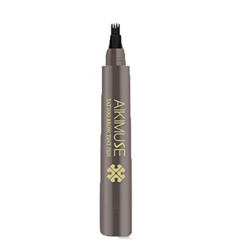 NOGOQU 4 Color Ultra Eyebrow Tattoo Pen natural Brows waterproof long lasting Micro-Fork Tip Applicator (C)