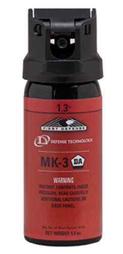 Defense Technology First Defense OC Stream MK-3 1.3% Solution Red Band Pepper Spray (1.5-Ounce)