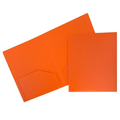 JAM Paper Plastic Heavy Duty Plastic 2 Pocket School Presentation Folders - Assorted Primary Colors - 6/pack by JAM Paper (Image #5)