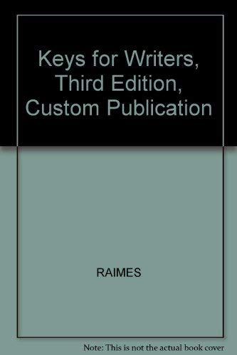 Keys for Writers, Third Edition, Custom Publication