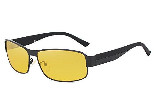 KINGSEVEN 2017 HD Brand Design Aluminum magnesium Polarized Night vision Sunglasses Men Square Sun Glasses Driving Sunglasses For Women (Black, - 2017 Sunglasses Driving