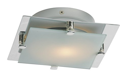 Flush Mounts 1 Light with Satin Nickel Tones in Finished LED Bulb Type 7 inch 5 Watts
