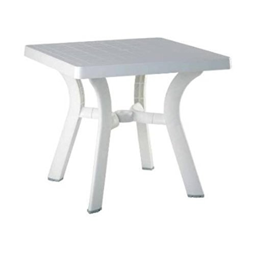 Viva Resin Square Dining Table 31 Inch (White) (29
