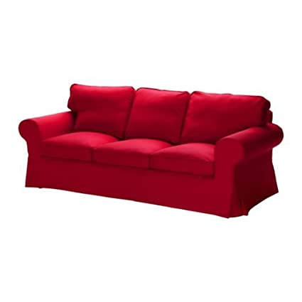 Ikea Ektorp Housse De Canape 3 Places Idemo Rouge Amazon Fr