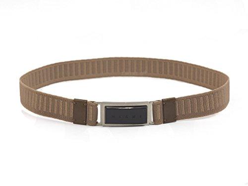 Marni Elastic Black Face Belt (Medium, Brown)