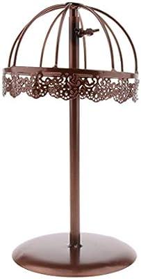 Sharplace Multifuncional Porta de Peluca Soporte de Sombrero Estante de  Metal de Diseño Vintage - Bronce  Amazon.es  Belleza f4ded51acf4